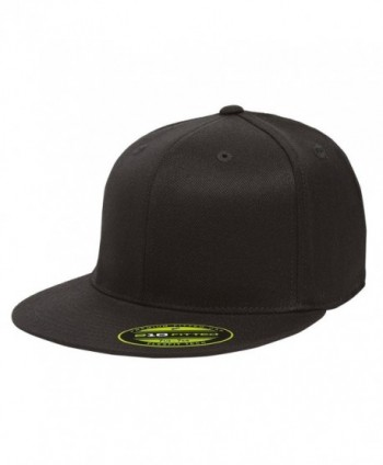 Flexfit/Yupoong 210 Fitted Flat Bill Cap - Black - CK184EUA87T
