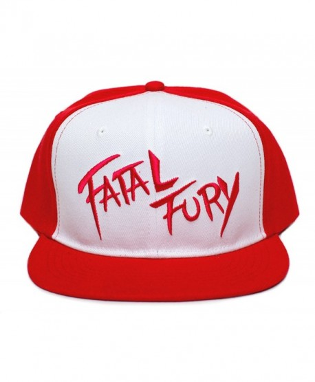 Fatal Fury Embroidered Flat Bill Unisex-Adult Trucker Hat -One-Size Red  f3e27454dd0