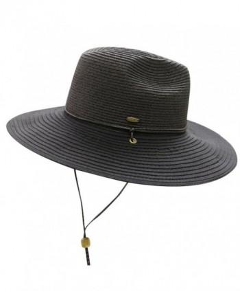 City Hunter Unisex CC St111 Upf50+ Protect Wide Brim Straw Sun Hat 2 Colors - St311 Black - CL183MZEM6R