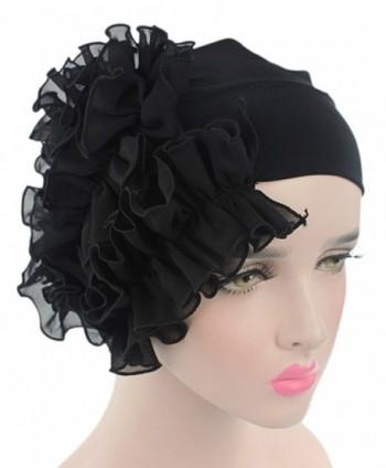 Westow Women's Super Soft Solid Color Knit Angora Beanie Hat - Black - C3183XR056L
