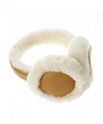 Foldable Wool Earmuffs Cold Weather Ear Protector for Women Girls - Khaki - CQ188QSLHCR