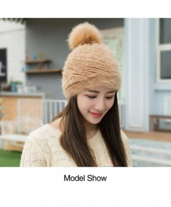 44ac273af4758 CJYXT Winter Hat Women Plus Velvet Thickening Woolen Yarn Caps Warm Ear  Protection Knitted Hats -  CJYXT Winter Thickening Protection Knitted ...