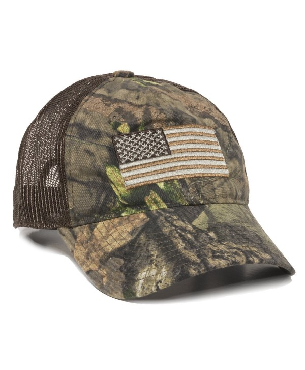 Outdoor Cap Men's Camouflage Americana Cap- One Size - Mossy Oak Break-up Country/Brown - CP189TDS6C2