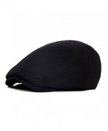 ZLS Retro Unisex Golf IVY Driving Beret newsboy Cabbie Caps Hats For Men - Black - CV17Y0L3GEW