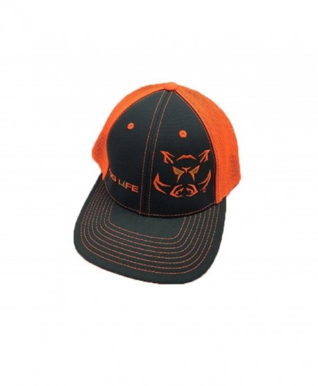 Hog Life Wild Orange & Dark Grey Cap (HLC-118) - CU12O36HCBF