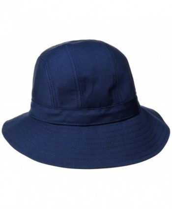 Physician Endorsed Women's B Zee 100 % Cotton Two Tone Sun Hat- Rated UPF 50+ for Max Sun Protection - Navy/Khaki - C911JTF00V3