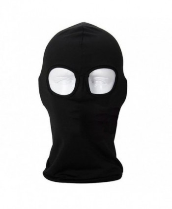 Lilyy Ultra Thin Lycra Outdoor Sports Bicycle Cycling Hood Hat CS Veil Balaclava Full Face Mask - Black - C211NCKD5VD