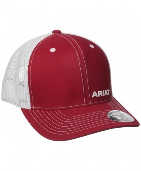 Ariat Men's Red Pinstripe Corner Brand - Red - C412GQI5T4X