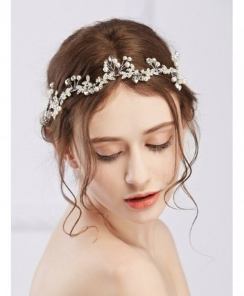 Missgace Bridal Crystal Vintage Headband Wedding Rhinestones Headband Women Beach Wedding Hair Accessories - CL12MA4N71G