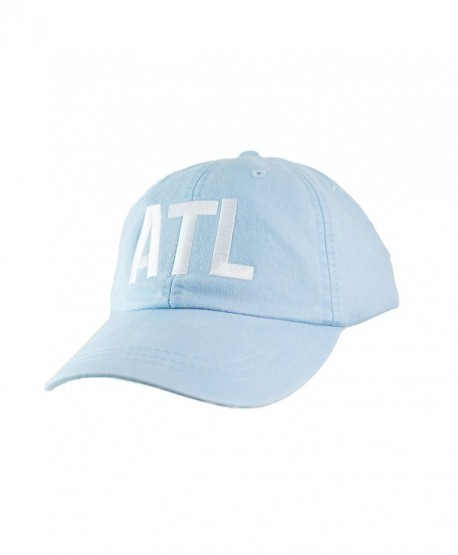 Mary's Monograms Embroidered ATL Airport Code Hat - Light Blue - CV1869M90IK