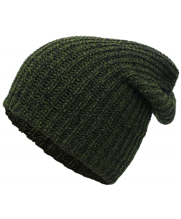 dbb2a6e5e Men / Women's Thick Stretchy Knit Slouchy Skull Cap Beanie - Green -  CJ12MA74QUX