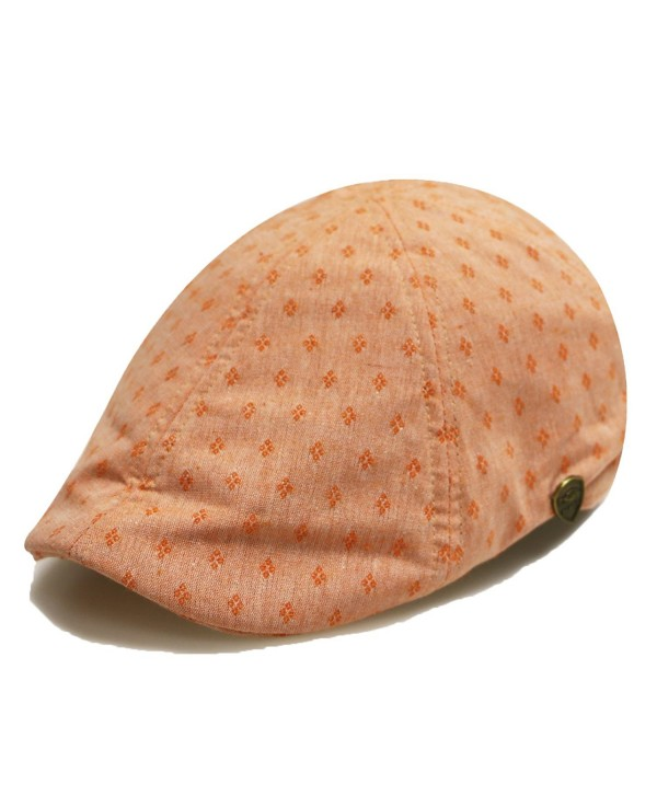 City Hunter Pmv790 Dot Pattern Duckbill Ivy Cap (4 Colors) - Orange - C611X9EPWDL