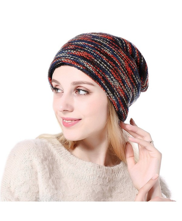 VBIGER Beanie Hat Knit Hat Winter Skull Wool Hat Windproof For Men & Women - C-multicolor - CT185X42A38