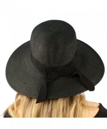 Summer Ribbon Floppy Hat Adjustable in Women's Sun Hats