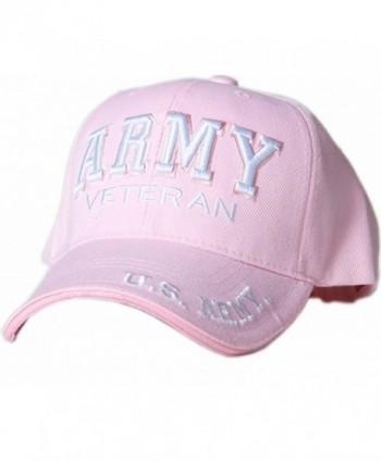 K & S Unique U.S. Army Veteran Text Shadow Mens Cap - Pink - CH11P00GROP