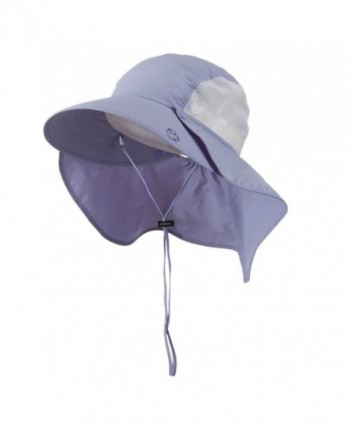 UV 50+ Talson Large Bill Hat with Detachable Flap - Purple - C511FITPSQL