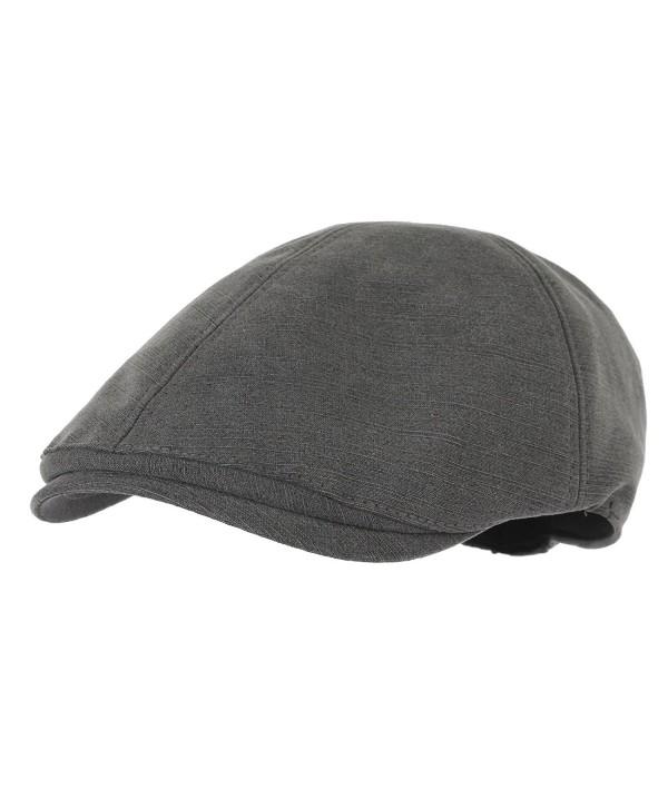 WITHMOONS Simple newsboy Hat Flat Cap SL3026 - Gray - C511UL8V8Q3