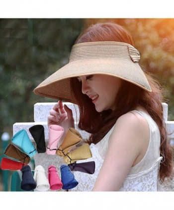 280367ea037dd Available. Zgllywr Women UPF 50+Packable Crushable Roll Up Wide Brim Sun  Visor Beach Straw Hat  Zgllywr ...