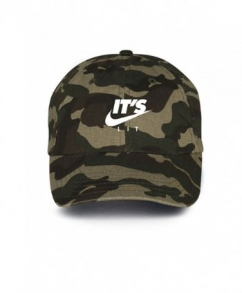 It's Lit Swoosh Camo w/ White Unstructured Dad Hat - CA12NSMOYHA