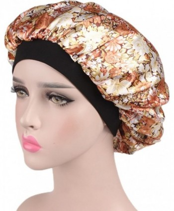 ce903b3c30b Available. Ababalaya Women s 3pcs Soft Elastic Floral Silk Nightcap Hair  Care Cap Chemo Beanie ...