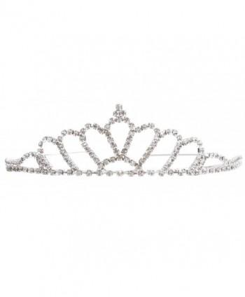 Simplicity Women's Prom Queen Crystal Rhinestones Crown Tiara - 983_fan-shape - C011YWC4EH9