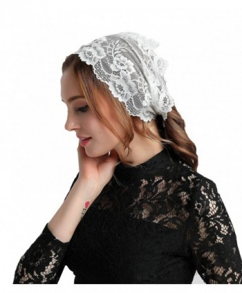 Hotsale Floral Soft Lace Headwrap Lace Headband Headcover Veil V12 - CO184Q8CD7M