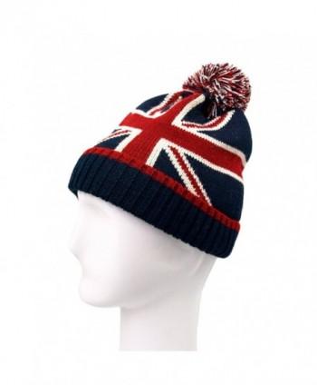 TrendsBlue Premium Unisex Warm Knit USA UK Flag Beanie Hat- Diff Designs - Uk V1 - CV11INMU2Z7