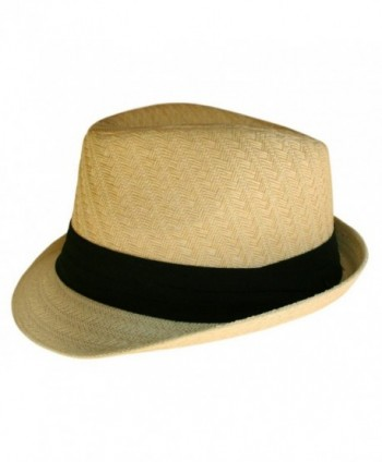 Fedora Hat Natural Color Straw