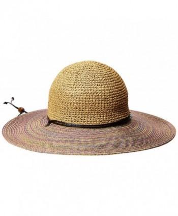 San Diego Hat Company Women's 4-Inch Brim Sun Hat with Crochet Paper Crown - Lavender - CU126ATCIQT
