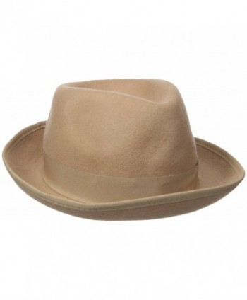 Original Penguin Men's Felted Wool Fedora - Camel - C812JF5WPY1