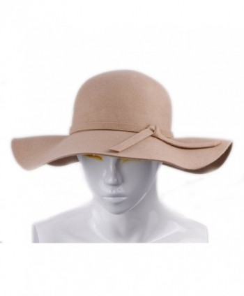 JTC Womens Hats Wool Sun Bowler Floppy Wide Brim Hat Beach Wear - CM11K3O70AH