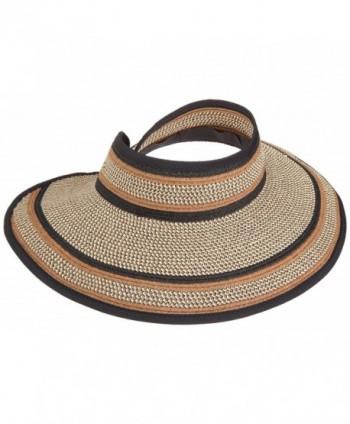 San Diego Hat Company Women's Ultrabraid Visor Hat - Mixed Brown - CS1143BNX3P