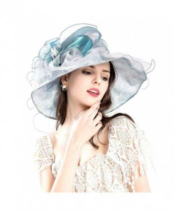 Seven Flowers Kentucky Derby Hat Womens Church Wedding Party Caps Hats - 1-blue Flower - CE17YH4TMI4