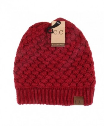 Hatsandscarf Exclusives Stretch HAT 47 Burgundy
