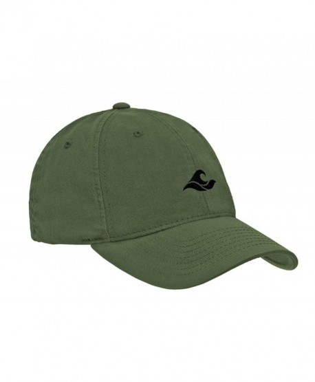 d4ede8a2bae Koloa Surf Wave Logo Soft   Cozy Relaxed Strapback Adjustable Baseball Caps  - Olive With Black Embroidered ...