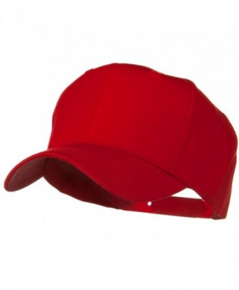 Solid Cotton Twill Pro Style Cap - Red - CK11918GLSJ
