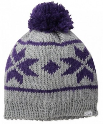 Coal Women's The Britta Snowflake Beanie With Pom - Heather Grey - CG11VJ068FD
