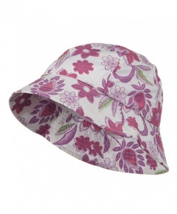 Ladies Floral Bucket Hat - Lilac - C4114YSOQHJ