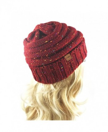Womens Chunky Thick Stretchy Beanie