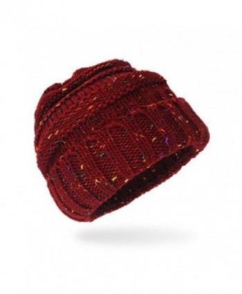 Womens Chunky Thick Stretchy Beanie in Women's Skullies & Beanies