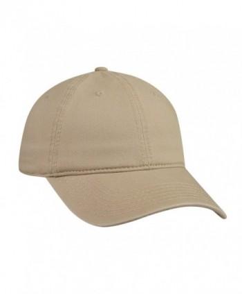 Cotton Twill Low Profile Caps - Khaki - CK11UZ3Y7VH