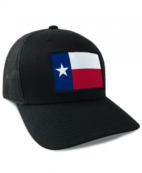 Hoo-rag Texas State Flag Flexfit Mesh Tactical Trucker Snapback Hat - C512JD4IJ5D