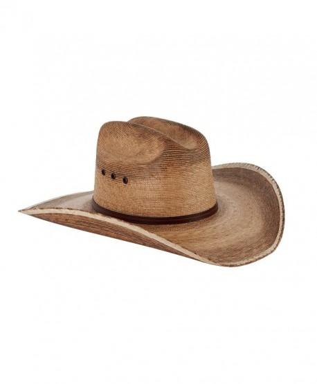 Western Cattleman Straw Cowboy Hat For Men - CK12DVTVIZJ