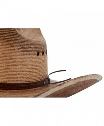 Western Cattleman Straw Cowboy Hat in Men's Cowboy Hats