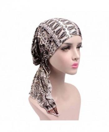 Highpot Women Fashion Printed Cancer Chemo Hat Beanie Scarf Turban Head Wrap Cap - G - CJ184SCMOX0