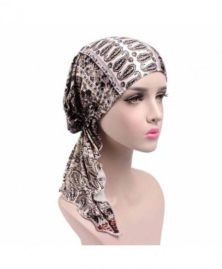 f1880130296a7 Highpot Women Fashion Printed Cancer Chemo Hat Beanie Scarf Turban Head  Wrap Cap - G -