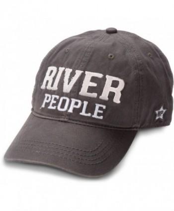 We People River People Adjustable Baseball Cap- Gray - C112DUD0W71