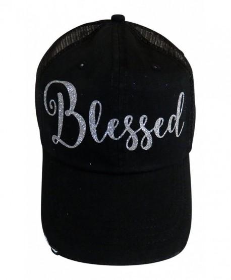 27eb622d5 Silver Glitter Blessed Black Snap Back Baseball Cap Faith - CD12NUVNZL5