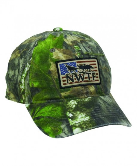 National Wild Turkey Foundation NWTF USA Flag Patch Mossy Oak Obsession Cap Hat 125 - CG17Z6LRZS7