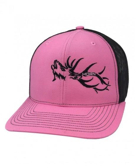 Horn Gear Trucker Hat - Hunters Series - Elk Edition - Hot Pink/Black - CC180S3YHCS